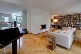 wohnzimmer mit kamin architekturbüro lehnen moderne
