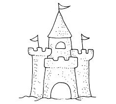 765x688 Sand Castle Wood Mount Stamp J1 5903G