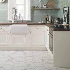 anais white hexagon tiles voronoi marble effect hexagon tiles