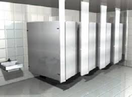 Floor Mounted Urinal Screen by Hadrian Stainless Steel Toilet Partitions