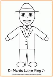 Martin Luther King Colouring Page 2