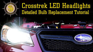 subaru crosstrek led headlight upgrade replacement fully