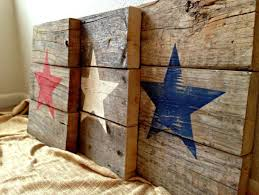 Made To Order Pallet Wood Patriotic American Star Signs