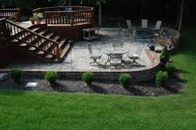 Outdoor deck designs brick and wood patio deck brick patios and