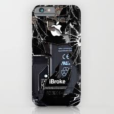 Broken rupture damaged cracked black apple iPhone 4 5 5s 5c