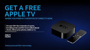To the free Apple TV new subscribers will need to sign up for DirecTV now at an AT&T Retail or Authorized Retail Store or through an AT&T Call Center