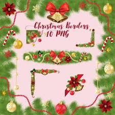 Christmas Borders Xmas Decor Set Frames Border