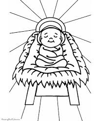 Baby Jesus In The Manger Coloring Pages