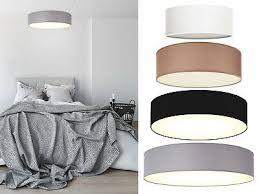 schöne deckenleuchte mit textil schirm rund schlafzimmer deckenlicht le