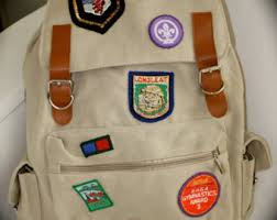 Unique Backpack With Travel And Scout Patches