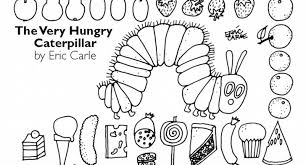 Stylish Very Hungry Caterpillar Coloring Pages Pertaining To Invigorate Color Page