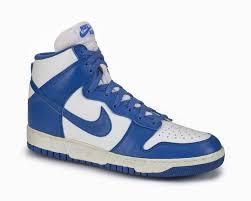 nike dunk white blue