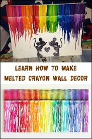 With A Canvas Some Crayons And Hair Dryer You Can Create Your Own Masterpiece