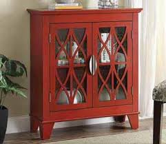 Accent Cabinet W Glass Doors