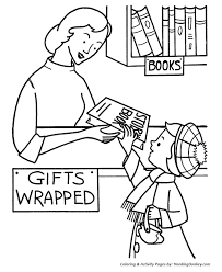 Christmas Gift Wrapping Coloring Page