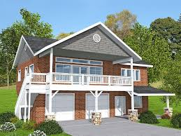 012G 0133 Garage Apartment Plan for a Sloping Lot
