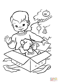 Click The Nice Christmas Gift For A Little Boy Coloring Pages To View Printable