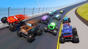 Race Cars Monster Trucks Daytona McQueen And Friends Mater The King ... Video Para Nios Coches Monster Truck Vehculos Gigantesbig Car Bigfoot The Original Monster Truck Downshift Episode 34 Jam Zombie Mega Bite Freestyle From School Bus Racing Iron Outlaw Youtube Crashes Party Travel Channel Trucks At Lnerville Speedway 2014 Avenger Monster Truck Crashrollover Tricks And Fails I Loved My First Rally Beamng Drive Van V1 Crash Testing 49 Hot Wheels Cage Action Set Unboxing Playtime 1