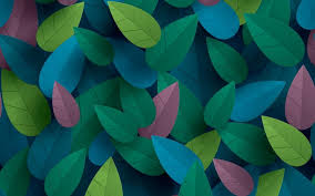 Colorful Leaves Art Design Wallpaper