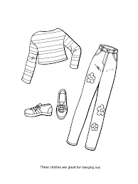 Barbie Fashion Clothes Coloring Page Free Online Printable Pages Sheets For Kids Get The Latest Images