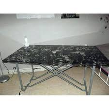 table bureau verre table bureau verre cheap bureau verre trempac noir plateau en