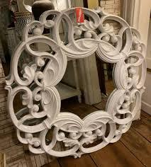 verzierter romantischer barock spiegel 1m wohnzimmer wandspiegel