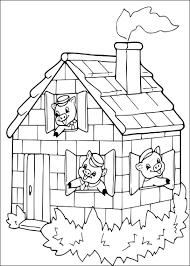 Coloriage Trois Petits Cochons À Imprimer Sur Coloriages 25