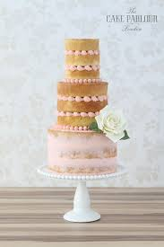 This Partial Naked Wedding Cake Is So Unique