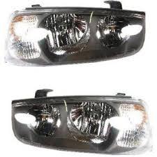 headlight set for 2001 2003 hyundai elantra driver passenger