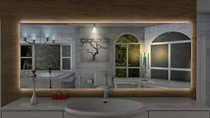 indirekter badspiegel lambelle mit led beleuchtung