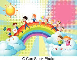 Children And The Band In The Parade Illustration Clipart Vector