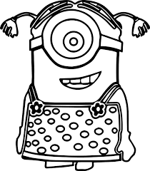 Download Coloring Pages Minion Printable Despicable Me To
