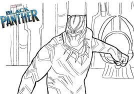 Captain Marvel Coloring Pages New Black Panther Print Colouring X Pixels America Civil War