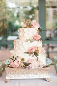 Garden Vintage Wedding Cake Different Color Flowers And Definitely Topper