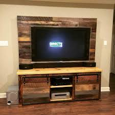 From S Custom Reclaimed U X Ron Brownus Wood Pallet Entertainment Center