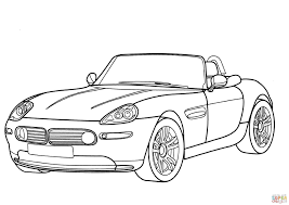 Click The BMW Z8 Cabriolet Coloring Pages
