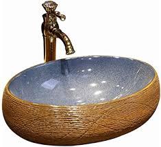 badezimmer waschbecken oval retro stil kreativ