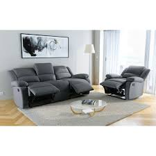 canape relax tissu pack promo ensemble canapé relax 3 places fauteuil relax tissu