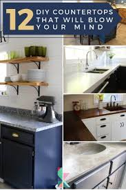 12 DIY Countertops That Will Blow Your Mind | Designertrapped.com Ideas Bath Countertop Vanity Countertops Towel Bathroom Corner Unit Diy Painted Sink Blesser House Tag Archived Of Outdoor Kitchen Depth Likable Temporary How To Make Wood That Look Insanely Expensive Must Cabinet Lighting Mirror Diy Small Modern Ten June Custom Grey Reclaimed Creative Decoration Modular Cabinets Hgtv Glacier Bay 201 Wwwmichelenailscom Vanities Unique Home Only Vessel Inches Depot Without Meas