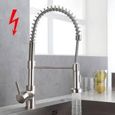 bonade niederdruck küchenarmatur mit brause einhebelmischer 360 drehbar wasserhahn küche ausziehbar spiralfederarmatur spültischarmatur edelstahl