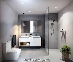 unglaubliche badezimmer im bauhausstil strich in betongrau