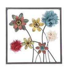 Framed Floral Metal Wall Decor Style 2