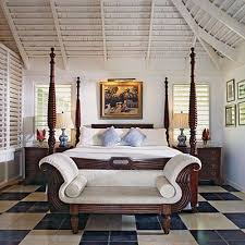 British Colonial Style Bed And Sofa In This Romantic Bedroom Jamaica