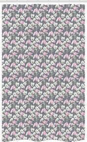 abakuhaus duschvorhang badezimmer deko set aus stoff mit haken breite 120 cm höhe 180 cm rosa blumen blühende blumen kaufen otto