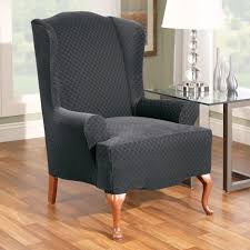 Grey Wingback Chair Slipcovers by Furniture Mesmerezing Wingback Chair Slipcovers Give A Chic Look