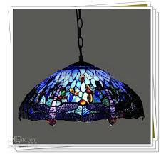 style dragonfly stained glass pendant light living room
