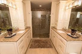 contemporary master bathroom with undermount sink by brigid