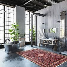 persischer moud teppich carpet im modernen industriellen