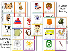 3 Letter Word Tracing Pre Writing Skills Free Printable