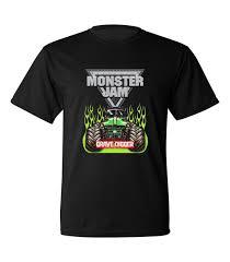 100 Monster Truck T Shirts Jam Grave Digger Shirt Black Size S M L XL